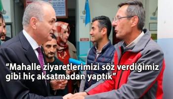 BAŞKAN ÖZLÜ MAHALLE MAHALLE GEZİYOR
