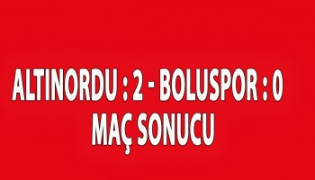BOLUSPOR ALTINORDU\'YU GEÇEMEDİ