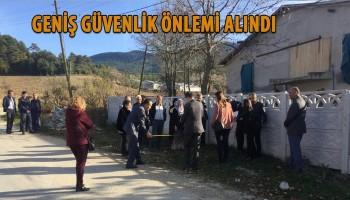 CİNAYET YERİNDE KEŞİF YAPILDI