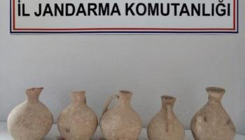 ROMA DÖNEMİNE AİT 5 TARİHİ KÜP YAKALANDI:1 GÖZALTI
